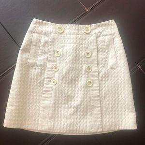 BCBG MaxAzria cream mini skirt